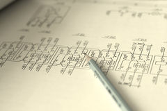 Technical drawing royalty free stock photography