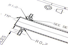 Technical drawing Royalty Free Stock Photos
