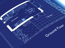 Technical drawing. Technical architectural CAD drawing blueprint Royalty Free Stock Image