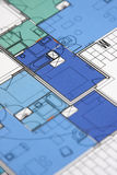 Technical drawing. For the construction of house Stock Image