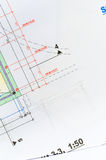 Technical drawing detail Stock Photography
