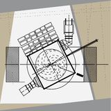 Technical drawing detail. Technical drawing vector illustration detail Royalty Free Stock Photos