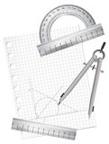 Technical Drawing Equipments Stock Photos