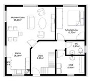 Technical drawing home floor plan Stock Images