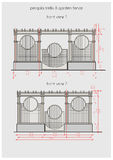 Technical drawing of pergola front view Royalty Free Stock Photo