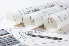 Technical drawings Royalty Free Stock Images