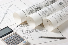Technical drawings Royalty Free Stock Photos