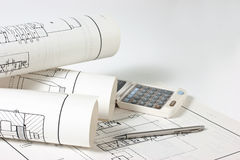 Technical drawings Stock Photos
