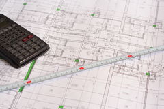Technical drawings Stock Photography