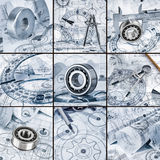 Technical drawings with the bearing Royalty Free Stock Image