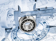 Technical drawings Royalty Free Stock Photo