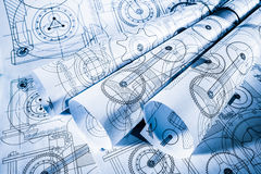 Technical drawings Stock Image