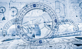 Technical drawings Stock Images
