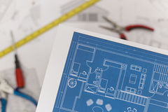 Technical drawings Royalty Free Stock Image