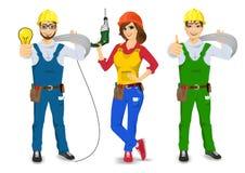 Technical, electrician, handyman, plasterer or mechanic Stock Photo