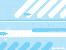 Technical elements. Abstract technical background in cyan and white with room to add your own text Royalty Free Stock Photos