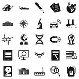 Technical evolution icons set, simple style Royalty Free Stock Photos