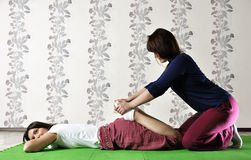 Technical execution of Thai massage Stock Image