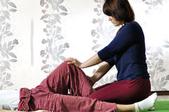 Technical execution of Thai massage. Technical execution of the Thai massage Royalty Free Stock Photography