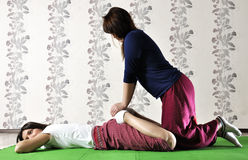Technical execution of Thai massage. Technical execution of the Thai massage Stock Images