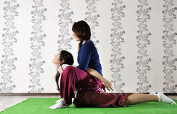 Technical execution of Thai massage Royalty Free Stock Photo