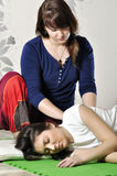 Technical execution of Thai massage. Technical execution of the Thai massage Stock Photography