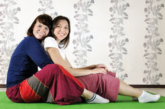 Technical execution of Thai massage. Technical execution of the Thai massage Stock Image