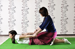 Technical execution of Thai massage Royalty Free Stock Images