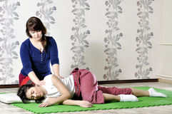 Technical execution of Thai massage. Technical execution of the Thai massage Stock Photos