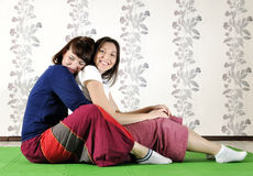 Technical execution of Thai massage Stock Images