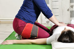 Technical execution of Thai massage Stock Photo