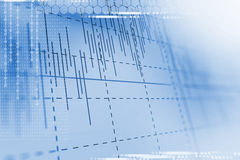 Technical financial graph on technology abstract background Royalty Free Stock Photo