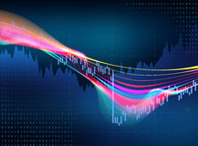 Technical financial graph on technology abstract background. Financial stock market graph on technology abstract background Stock Photos