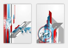 Technical flat flyer design Royalty Free Stock Images