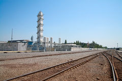 Technical gas plant Royalty Free Stock Image