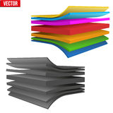Technical illustration of a multilayer material Royalty Free Stock Photo
