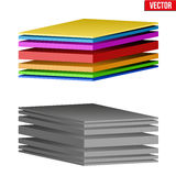 Technical illustration of a multilayer material Stock Image