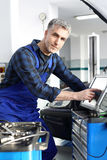 Technical inspection of the vehicle Stock Photography