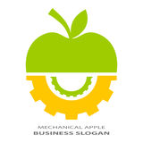 Technical logo. Abstract technical logo with apple and gears Stock Photography