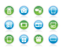 Technical, media and electronics icons Stock Photography