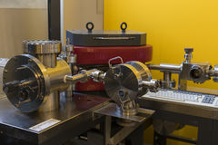 The technical museum in Vienna exhibits the production of energy industry machinery. Stock Image