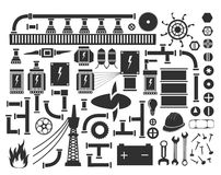 Technical objects and units of assemblies and mechanisms Royalty Free Stock Image