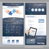 Technical one page website template design Royalty Free Stock Photo