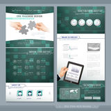 Technical one page website template design Stock Photos