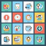 Creative Web Development Icon Pack royalty free illustration