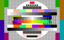 Technical problems on TV Royalty Free Stock Photo