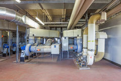 Technical room with exhaust Royalty Free Stock Photo