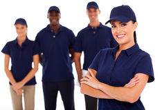 Technical service. Professional technical service leader and team Stock Photos