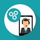Technical service and call center icon design, vector illustration Royalty Free Stock Photo