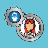Technical service and call center icon design, vector illustration Royalty Free Stock Images